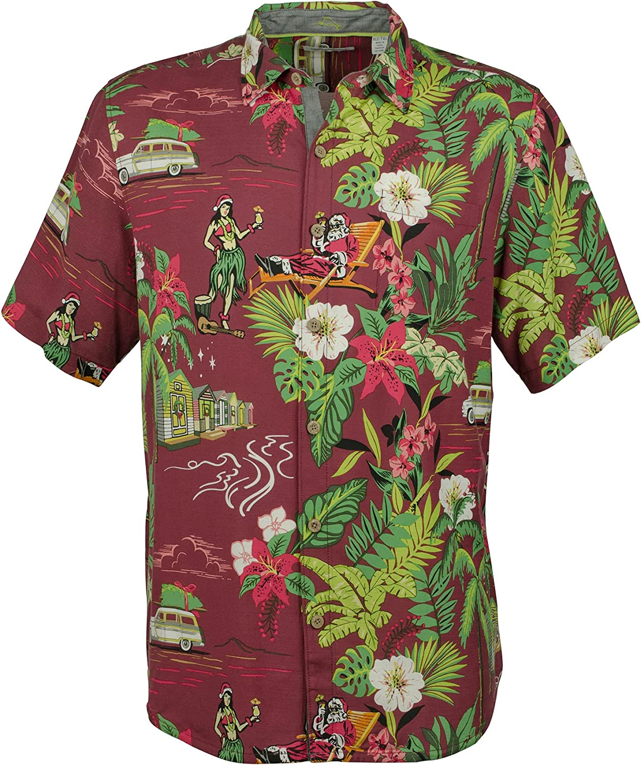 Tommy Bahama Men's Home for The Huladays Camp Shirt