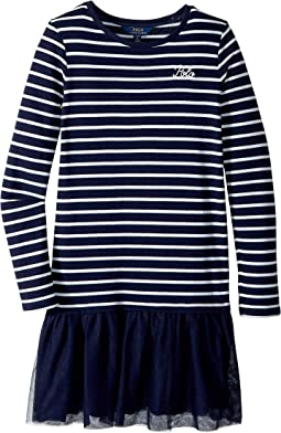Striped Terry-Tulle Dress (Little Kids/Big Kids)