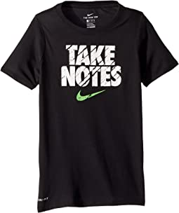 Nike Kids Dry Training T-Shirt Take Notes (Little Kids/Big Kids)