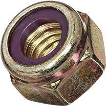 Steel Lock Nut, Zinc Yellow-Chromate Plated Finish, Grade 8, Right Hand Threads, Nylon Insert, 1/2