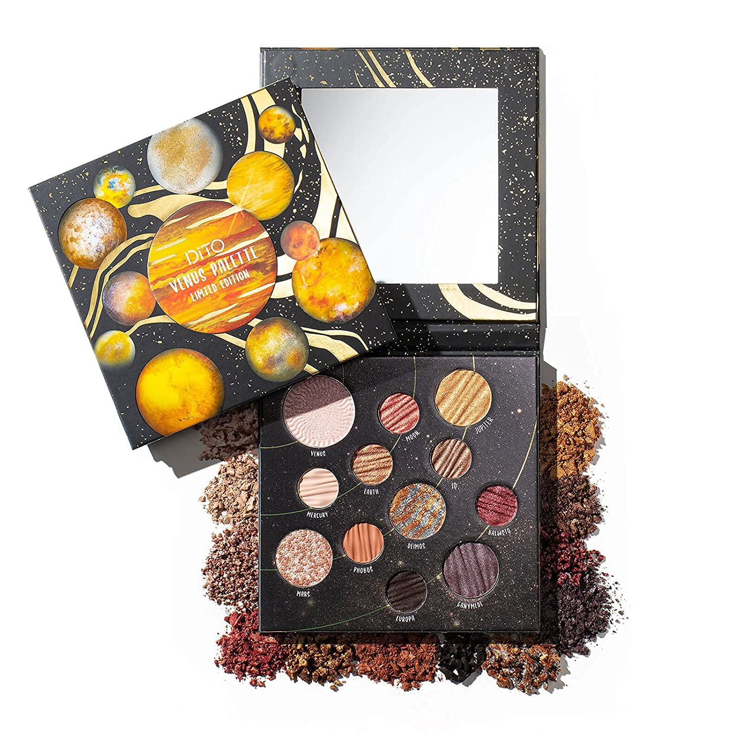 DiTO 12 Color Venus Makeup Palette Highly Pigmented Louisville-Jefferson County Mall Eyeshadow Max 89% OFF P