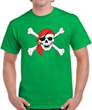 Pekatees Men's Jolly Roger Skull T Shirts Jolly Roger Pirate Shirts for Him