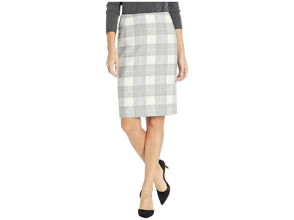 Tommy Hilfiger Plaid Straight Skirt (Grey Multi) Women