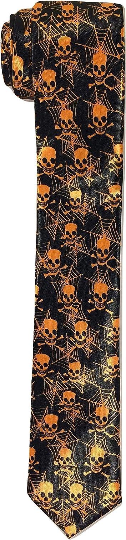 Skinny Free shipping New Skulls Orange Novelty Necktie Washington Mall