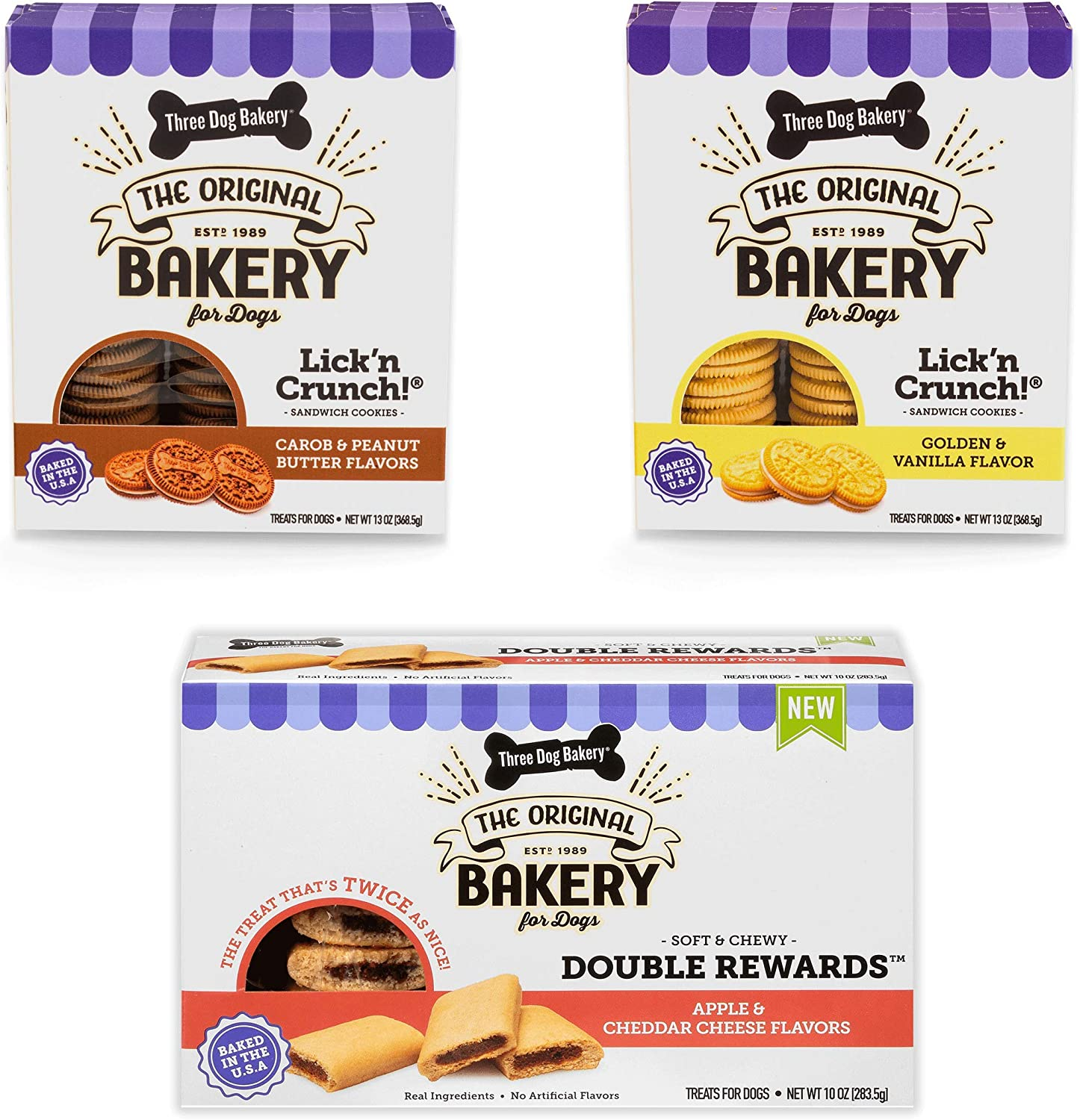 Super sale period limited Three Dog Bakery Classic Cookies for Treats Pack Variety Premium Oklahoma City Mall