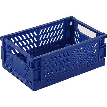 BAREGO Cajas Cesta de Almacenamiento Plegables de Plástico (Trompeta, Azul Oscuro): Amazon.es: Hogar