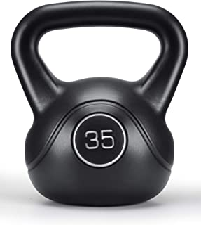 MaxKare 35lbs Kettlebell with HDPE Handle Workout Equipment Professional Olympic core Strength Training Weightlift Fitness...