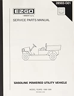 EZGO 28502G01 1998-1999 Service Parts Manual for Gas ST350 Workhorse