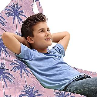 ABAKUHAUS Exotique Jouet Sac de Rangement Chaise Lounge, Résumé Jungle Palms Aloha, Stockage pour Animal en Peluche à Haut...