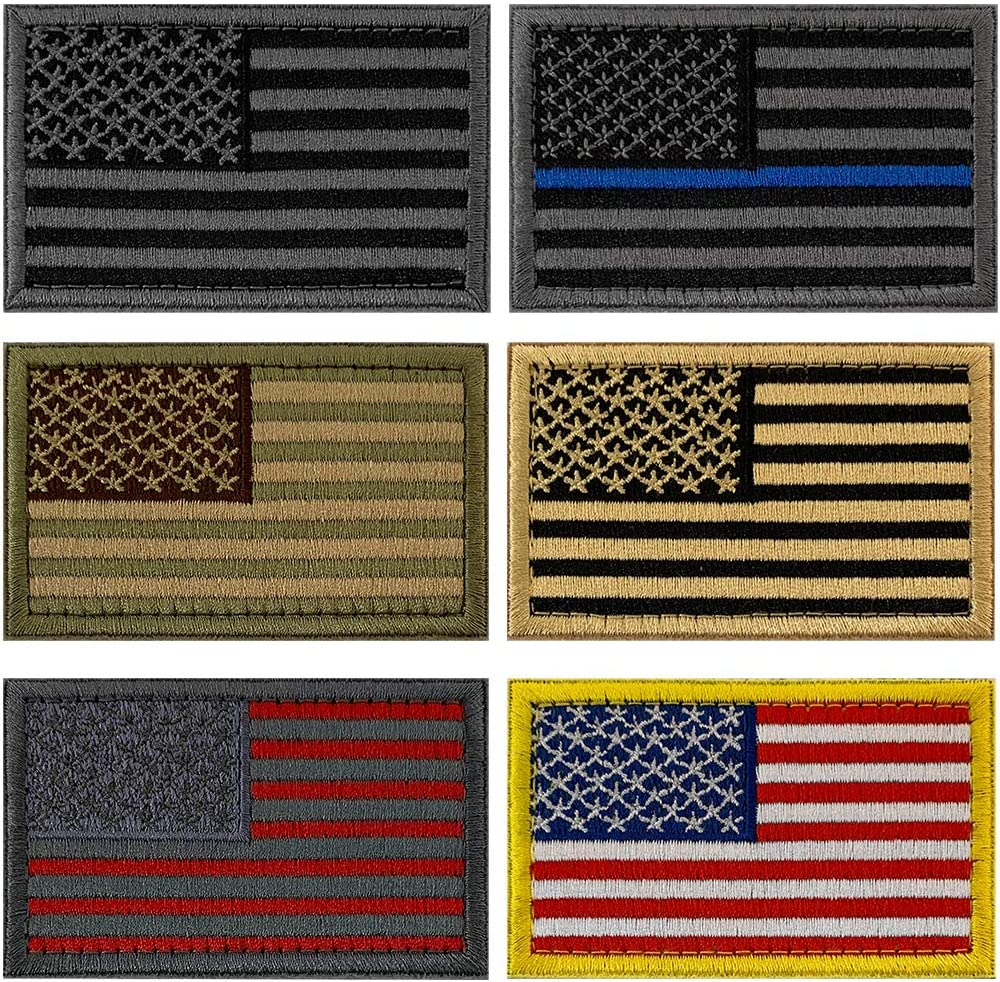 Military Tactical Patches Sets Max 82% OFF American Emb Patch USA Surprise price Fully Flag