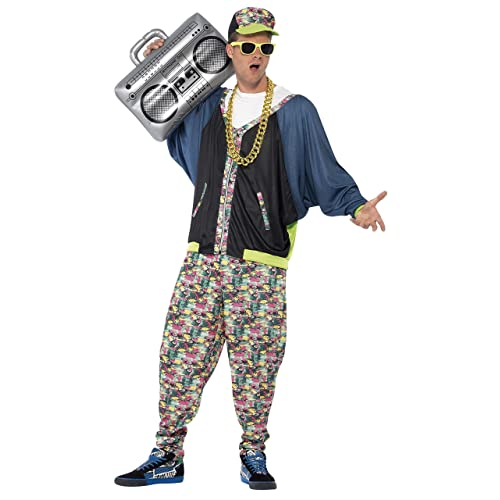 30b4bbcd6c448 Smiffy's Men's 80's Hip Hop Costume
