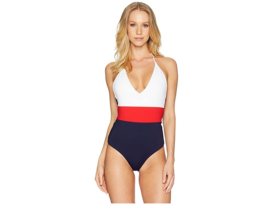 Tavik Chase One-Piece Color Blocked (Red/Evening Blue) Women