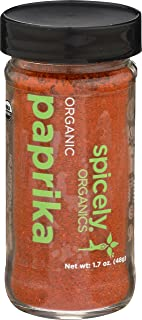 Spicely Organic Paprika Powder 1.70 Ounce Jar Certified Gluten Free
