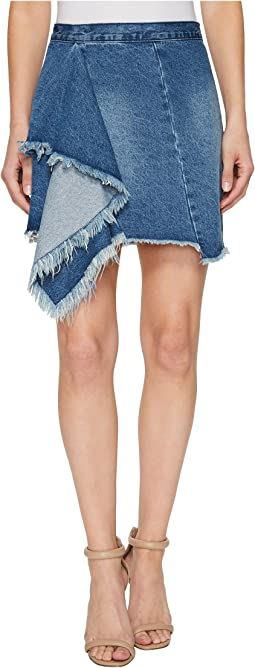 Blank NYC - Denim Ruffle Detail Skirt in The Blues