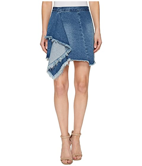 Denim Blank Ruffle The NYC in Blues Detail Skirt CSS5Trx