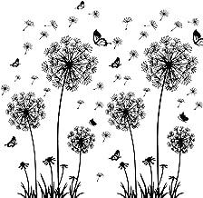 solawill Diente de León Pegatinas Pared, pegatinas adhesivas Pared vinilo decorativo Flores 3d mariposas Plantas murales p...