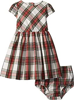 Tartan Plaid Dress & Bloomers (Infant)