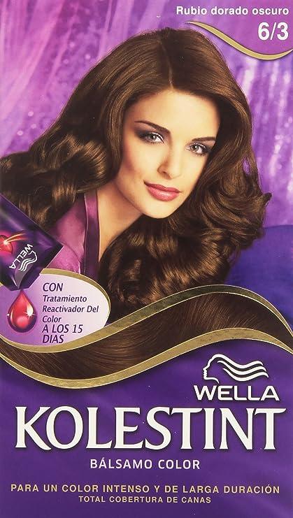 Wella Kolestint - Bálsamo, color rubio dorado oscuro 6/3