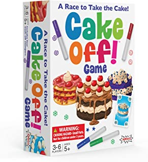 AMIGO Games Cake Off! Kids Card Game with Wash-Off Markers