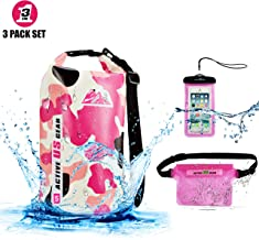 Premium Waterproof Dry Bag with Phone Pouch and Waist Bag 5L/10L/ 20L/30L,Travel Gear for Kayaking, Swimming,Rafting, Boat...