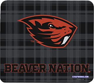 Oregon State University Collegiate Mouse Pad - Show Off Your Team Spirit with This Oregon State Beavers Mousepad - Made in The USA - Beavers on Plaid