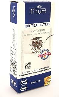 Finum - Filtros de papel para infusiones, tamaño XS, 100 unidades