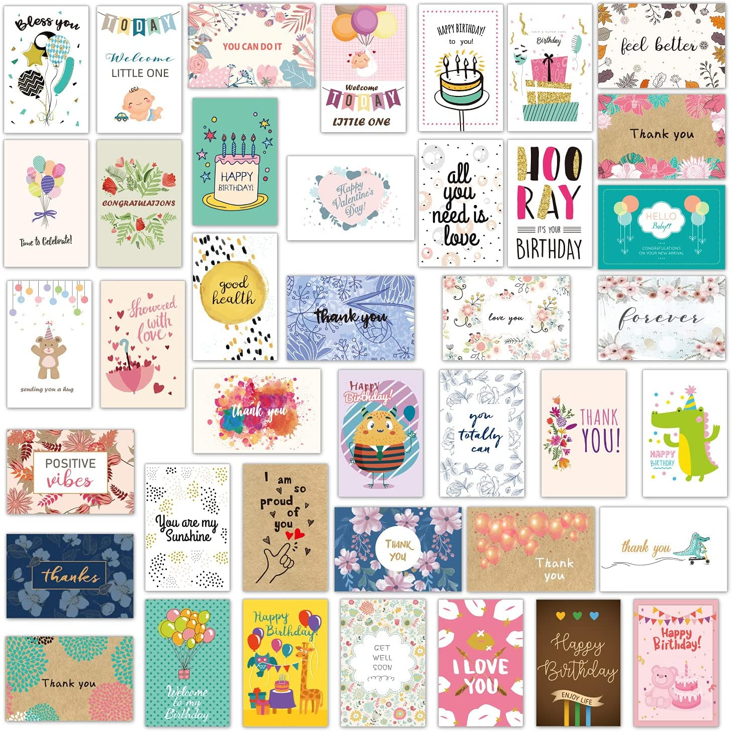Alvene 40 Max 77% OFF Greeting Cards With Envelope Envelopes Sticker El Paso Mall And