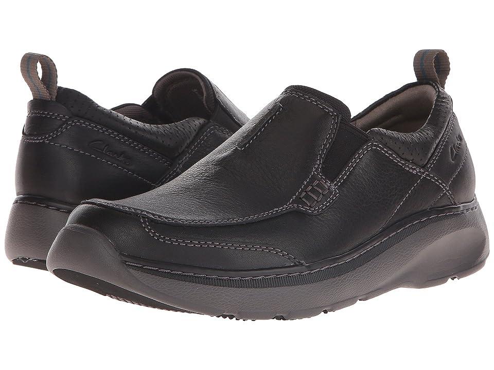 Clarks Charton Step (Black Leather) Men