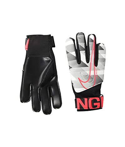 Nike Kids Match Goalkeeper Soccer Gloves (Little Kids/Big Kids) (White/Black/Laser Crimson) Over-Mits Gloves