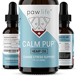 Dog Calming Aid - 1000mg Hemp Oil for Dogs - Calming Extract for Stress and Anxiety Support - Omega 3 and 6 Fatty Acids - Hip and Joint Pain Support for Dogs - 1oz