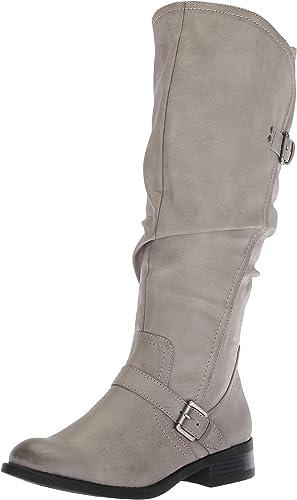 Weiß Mountain LIDA Rund Kunstleder Mode-Knie Mode-Knie Mode-Knie Hoch Stiefel  Marken online billig verkaufen