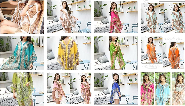 12 Kaftan Women wholesale Beach Swimwear Bikini Cover Up Summer Boho