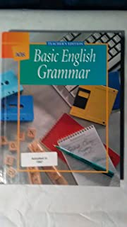 AGS American Guidance Service, Basic English Grammer Teacher Edition, 2001 ISBN: 0785423095