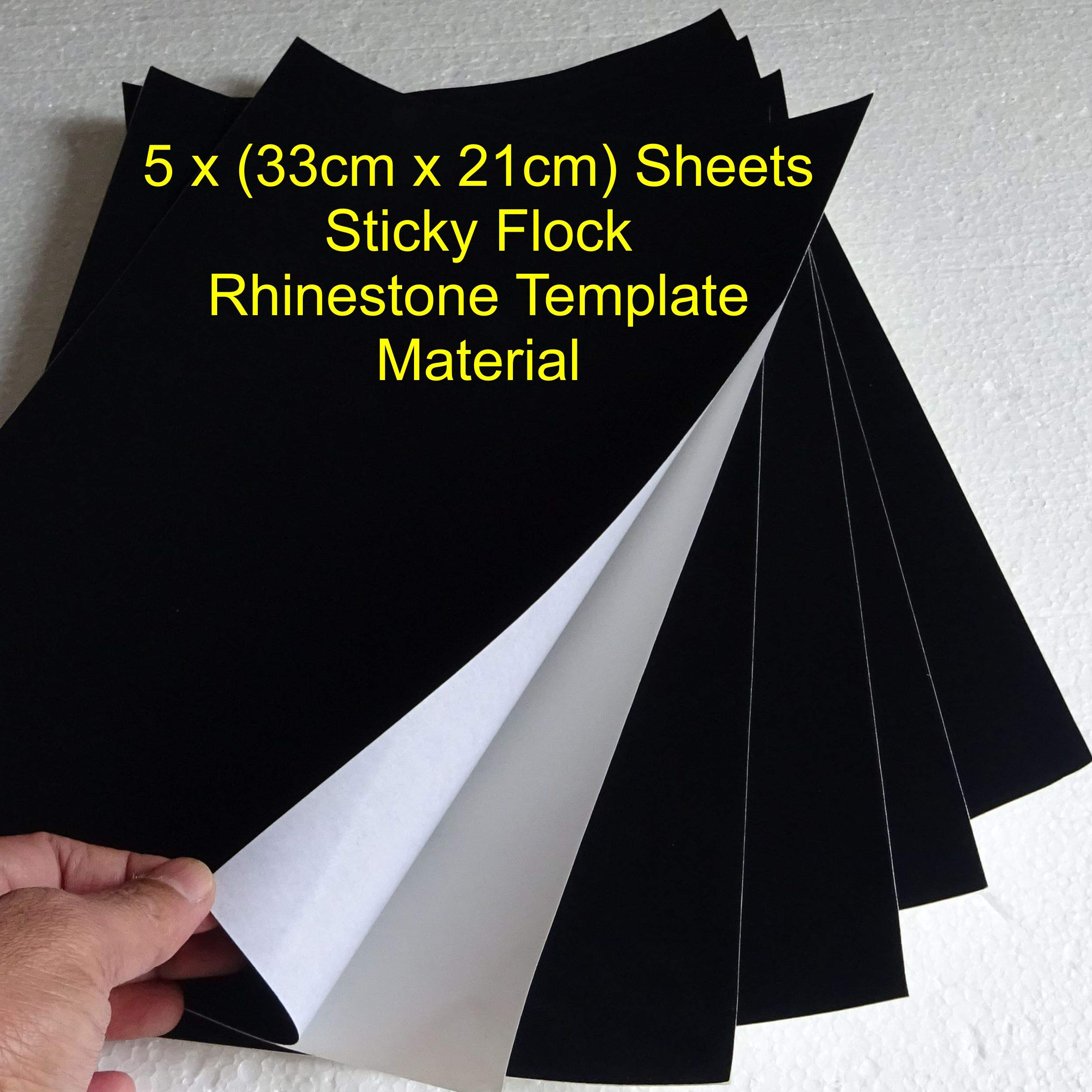 Juego de 5 hojas de tela (210 mm x 330 mm) de calcomanía Flock Hot ...