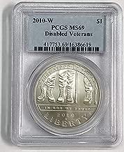 2010 W Disabled Veterans Commemorative $1 MS69 PCGS