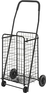 Whitmor Rolling Utility Shopping Cart, Black