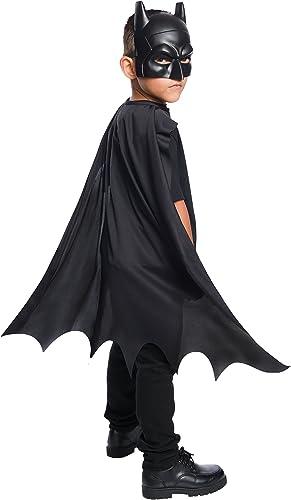 Rubie's 34248 Costume Boys DC Comics Batman Cape & Mask Set Costume, One Size, Black