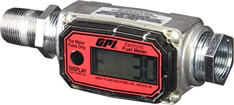 """GPI 113255-1, 1"""" Aluminum Fuel Meter 01A31GM, 3 to 30 GPM, NPT Thread, 300 PSI"""