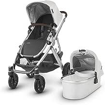 UPPAbaby Vista Stroller, Bryce (White Marl/Silver/Chestnut Leather), Standard