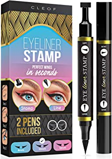 Eyeliner Stamp – Winged Eyeliner in Seconds – Easy to Use, Waterproof & Smudge Proof, Long Lasting Liquid Black Eye Liner Pen,Cruelty Free,Vegan, Paraben Free. 10 mm(Classic)