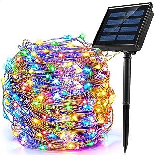Ankway Guirlande Lumineuse Solaire Extérieur, 200 LED 8 Modes 22M Décoration Lumineuse Solaire Noël IP65 Imperméable Lampe...