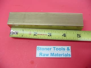 "1//2/"" x 1//2/"" C360 BRASS SQUARE BAR 6/"" long Solid .50/"" Flat Mill Stock H02"