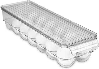 Home Basics Stackable Egg Holder for Refrigerator, Clear