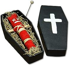 Coffin Doll Red–Original Voodoo muñeca con ataúd, aguja y Ritual instrucciones–Amor Mágico