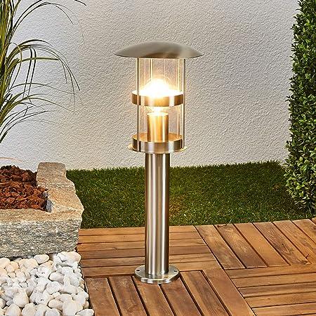 Wegelampe Noemi Edelstahl Lampenwelt Außenlampe Zufahrt Wegeleuchte Außenleuchte