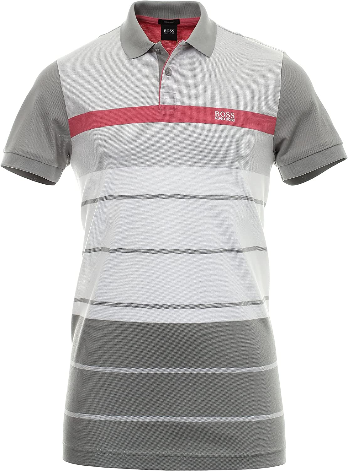 Hugo Boss Men's Paddy Popular shop is the lowest price challenge 5 Gray Short Polo Sleeve Ranking TOP1 T-Shirt Striped