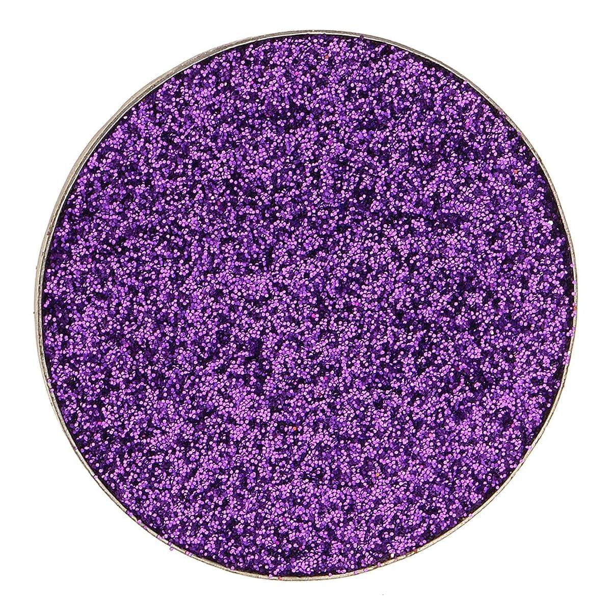 破裂反対した地味なPerfk ダイヤモンド キラキラ シマー メイクアップ アイシャドウ 顔料 目を引く魅力的 全5色 - 紫