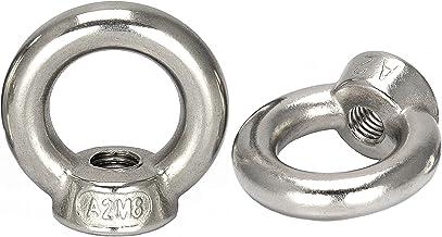 OPIOL QUALITY   Ringmoeren M6 gegoten en gepolijst vergelijkbaar met DIN 582 (2 stuks)   roestvrij staal A2 V2A   moer   o...