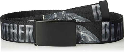 Buckle-Down Men's Web Belt Black Panther 1.5