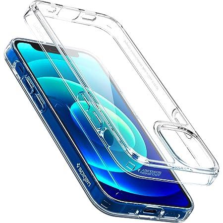 Spigen iPhone12 mini 用 ケース 全透明 9H背面 tpuバンパー クォーツ・ハイブリッド ACS01748 (クリスタル・クリア)